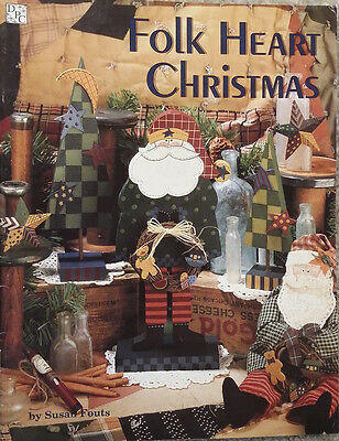 Folk Art Christmas By Susan Fouts Ornaments Christmas Santas Tole Painting Book.