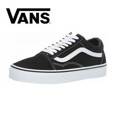 NewVans Old Skool Skate Shoes Black/White Classic Canvas Suede Sneakers Trainers