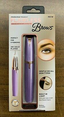 Finishing Touch Flawless Brows Hair Remover 18K Gold Plated NEW