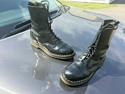 Vintage Dr Martens 1490 black leather boots UK 10 EU 45 Made in England