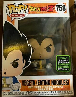 Funko Pop! ECCC 2020 DBZ Vegeta Eating Noodles Amazon Shared Exclusive Pre-Order