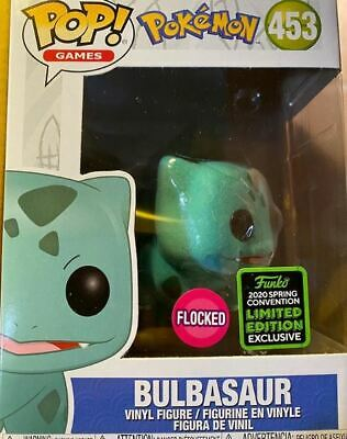 Funko Pop! ECCC 2020 Pokemon Flocked Bulbasaur Amazon Shared Exclusive Pre-Order