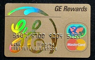 GE Rewards MasterCard gold credit card exp 1994♡Free Shipping♡cc937