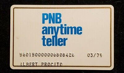 PNB Philadelphia National Bank anytime teller PA exp 1979♡Free Shipping♡cc941♡