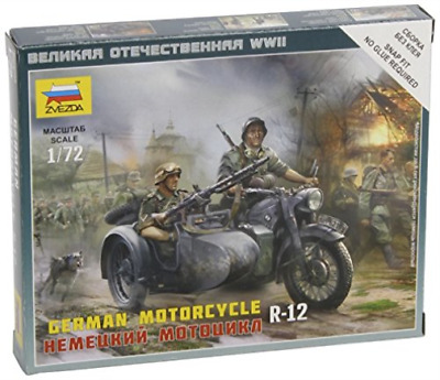 Zvezda - German Motorcycle R-12 1:72 NEW