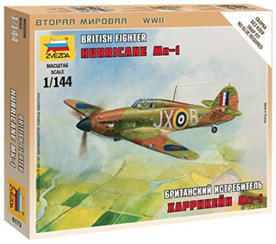 Zvezda - British Fighter Hurricane Mk-1 1:144 NEW