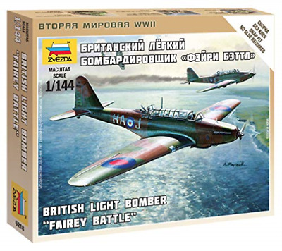 Zvezda - British Light Bomber Fairey Battle 1:144 NEW