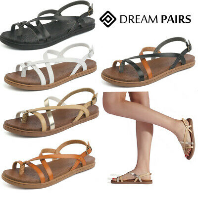 DREAM PAIRS Women Flat Slingback Sandals Ladies Summer Holiday Beach Shoes 6-11