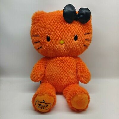 "Hello Kitty 18"" Bright Orange Halloween Limited Edition Plush Build-A-Bear 2011"