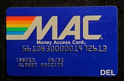MAC Card Philadelphia National Bank Delaware exp 1982♡Free Shipping♡ cc961