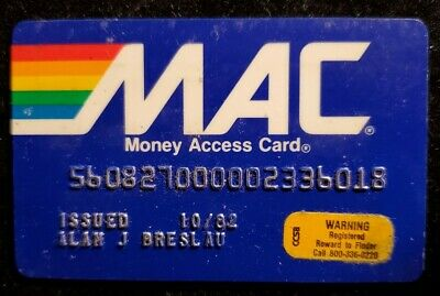 MAC Card The National State Bank exp 1982♡Free Shipping♡ cc962