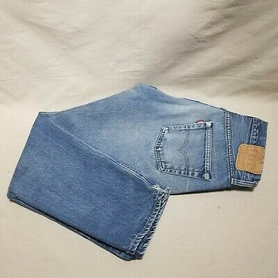 Vintage 80's 501 Levi's Men's 33x31 Blue Denim Faded Distressed USA Button Fly