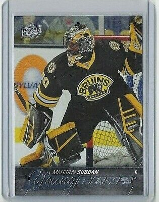 2015-16 Malcolm Subban Upper Deck Young Guns Yg Rookie Card #211