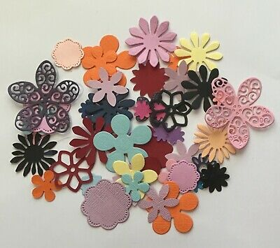 150+ Bulk Flower Paper Punchies Craft/Scrapbooking Large/Med/Small mix CARDSTOCK