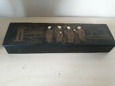 Victorian Japanese Lacquered Box C1850