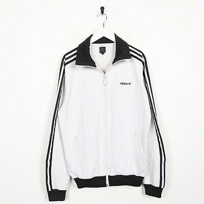Vintage ADIDAS ORIGINALS Small Logo Tracksuit Top Jacket White | Medium M