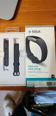 Fitbit ALTA HR Grey Leather Strap S/P. New in Box