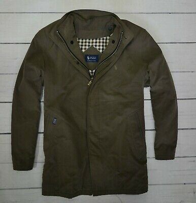 POLO by RALPH LAUREN Mens Outdoor Jacket Cotton Casual Coat Brown Size Small