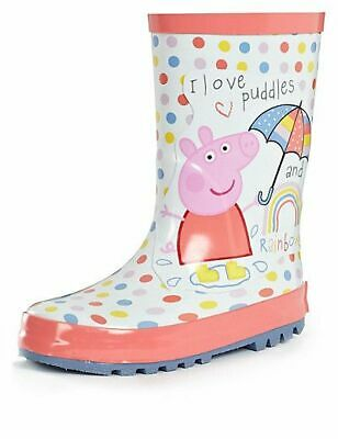 M&S Peppa Pig™ Welly Boots (Younger Girls) INFANT Size UK12