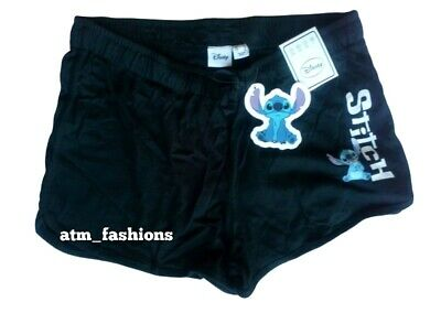 PRIMARK LADIES DISNEY LILO AND STITCH BLACK SUMMER SHORTS BNWT ALL SIZES