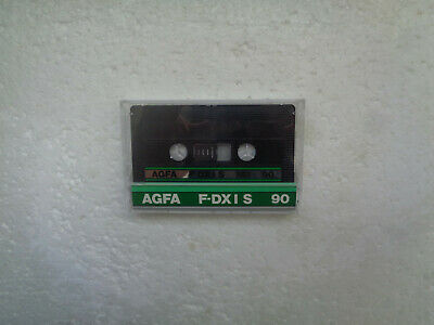 Vintage Audio Cassette AGFA F-DXI S 90 From 1987 - Fantastic Condition !!