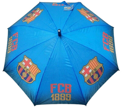 Fc Barcelona Football Older Boys Rain Umbrella Kids School Panel Brolly Gift New