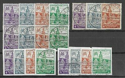 ALLIED OCCUPATION GERMANY 1946 Used All 5 Complete Sets Michel #162-165 CV €640