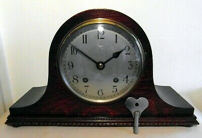 Working 1930 Mantle Clock by ECWM 'Empire' 8 Day Striking & Original Key