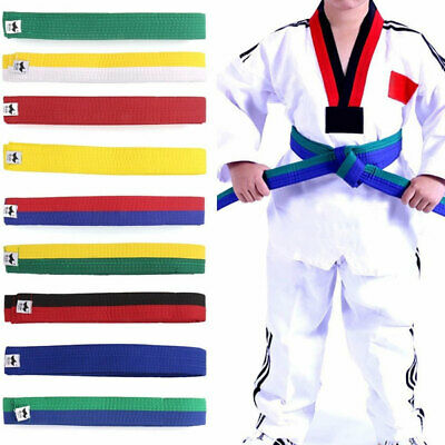 1Pc Randomly Karate Judo Martial Taekwondo Belt For Adults And Kids Waistband Q9