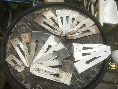 Job Lot 21 Vintage Wood Plane Blades Various Sizes - Record Tools Etc Sheffield