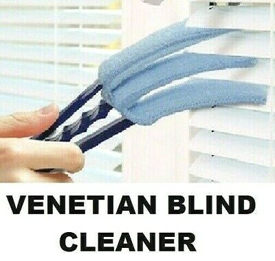 Venetian Blind Cleaner 3 Pronged Microfibre Cleaner Cleaning Duster Brush Window