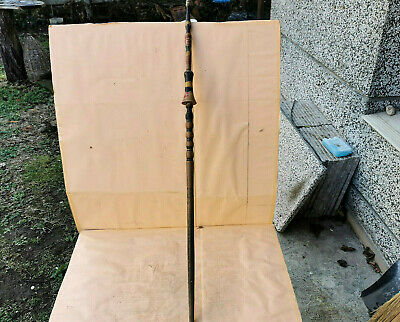 Old Primitive Antique Distaff For Hand Spinning Wool Hand Carved Yarn Thread
