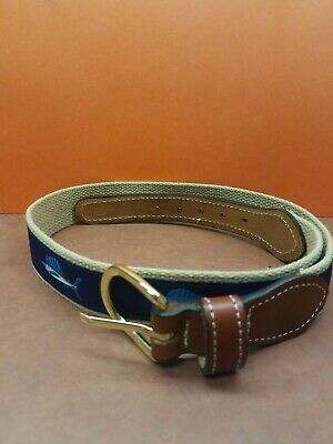 Youth Boy's Leather Belt Size 28 Swordfish Tuna