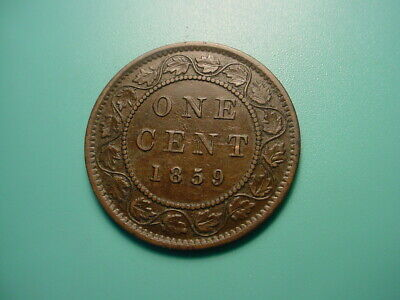 Canada 1859 Large Cent In Very Fine Condition