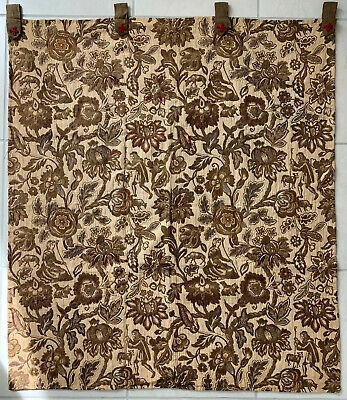 "Antique Fabric Italian Tapestry Wall hanging 44""wIde By 52"" Tall"