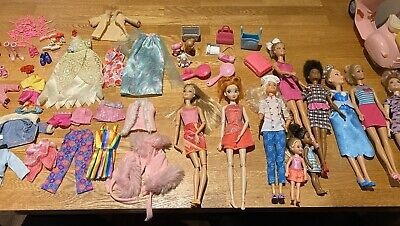Barbie Bundle Disney Chelsea Fashionista Eyelash Curve Dolls Accessories Scooter