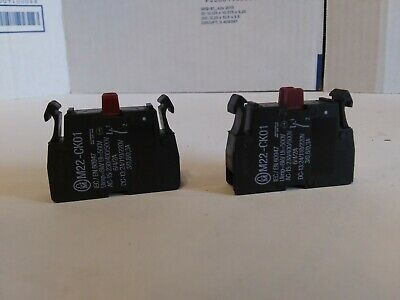 Moeller M22-CK01 Contact Block (Lot of 2)