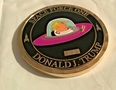 challenge coin DONALD J TRUMP SPACE command FORCE ONE  NASA SPACE SHIP  5/5