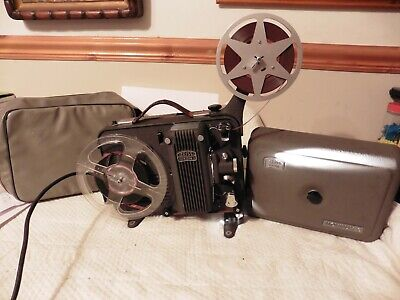 Vintage 1950s  Zeiss IKON Movilux 8 Film Projector 8mm RARE POWER CABLE INCLUDED