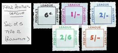GB 1962 Peoples League Strike Mail (5) Rouletted As Described NT688