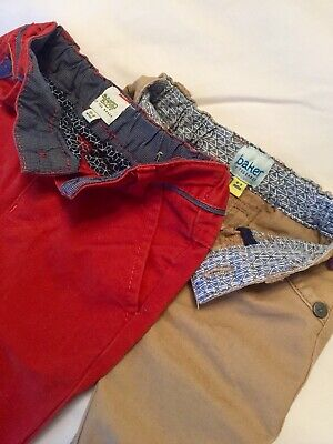 2 Ted Baker Boys 0-3 Mnths, Lovely Coloured Chinos.