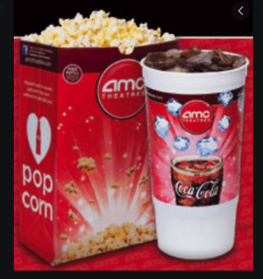 AMC Theatre 1 Large Popcorn & 2 Large Drink