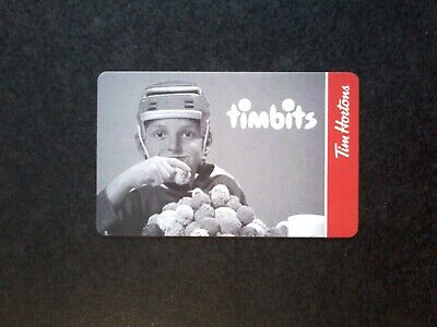 Tim Hortons gift card TIMBITS Wayne Gretzky as kid  new, no $ value