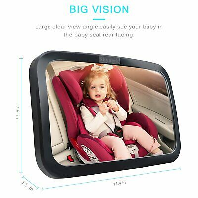 Shynerk Baby Car Mirror Safety Car Seat Mirror for Rear Facing Infant Shatterpro