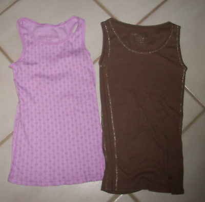 Girls 10 12 tank tops shirts lot 2 Limited Too brown pink Mossimo GUC