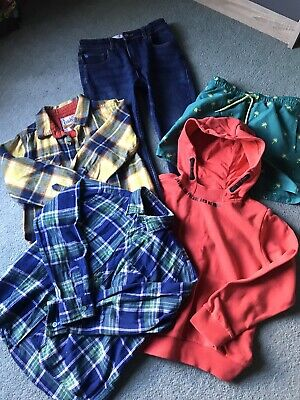 Boys Bundle x 5 Items Age 8-9. Jeans, Swimmers, Shirts and Hoodie. M&S, Matalan