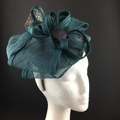 Ladies Teal Fascinator Wedding Races Special Occasion Mother Of The Bride