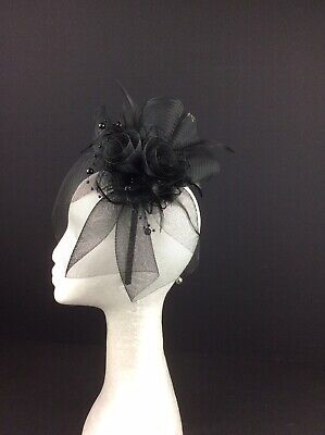 Ladies Black Fascinator New without Tags