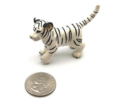 Schleich WHITE SIBERIAN TIGER CUB Wildlife Figure 2003 Retired