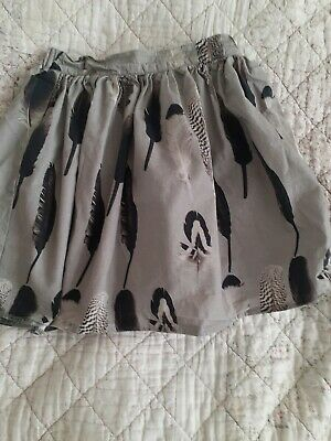 BEAU LOVES Girls skirt  age 3-4 years old feathers summer designer